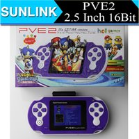 portable digital tv - PVE2 inch bit Game Player Portable Handheld Digital Pocket System TV Out Video games Console game players Kid Gifts DHL