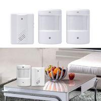 Wholesale Door Bell Alarm Chime Doorbell Wireless Infrared Monitor Sensor Detector Welcome Entry Bell Receiver Transmitter Brand New