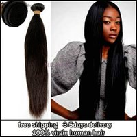 Wholesale Peruvian straight virgin hair unprocessed a grade straight remy hair bundles natural color products extensions double weft