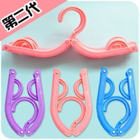 Wholesale Portable travel clothes rack folding household clothes hanger trousers rack clothes hanging anti slip clothes support child baby clothes rac