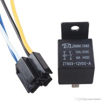 Wholesale Sales Black DC V A SPST Premium Relay Socket Pin P Wire For Car Auto A5