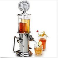 juice dispenser - 1pc Wine Gas Station Water Juice Cocktail Dispenser Drinks Bartending Beer Machine Double Pumps for Party