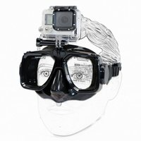 Wholesale 2016 High Quality Hot Sale Tempered Dive Snorkeling Scuba Face Mask Swimming For Gopro Hero Camera Summer
