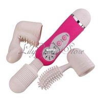 Wholesale New Speed Magic Wand Powerful Neck Body Massager Vibrator Attachment Head D281