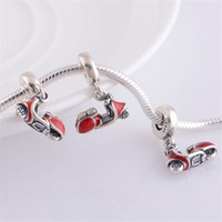 Wholesale DIY Crystal Necklaces Loose Bead Pandora Charms Silver Original Jewelry Clear Luxury Elegant Pendant Sets New Arrival