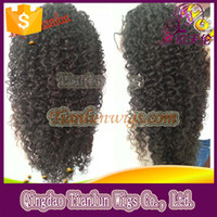 african american human hair - 8A Peruvian Virign Remy Human Hair inch STOCK Kinky Curly African American Glueless Full Lace Wig Front Lace Wig
