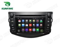 Wholesale Quad Core Android Car DVD GPS Navigation Player for Toyota RAV4 Radio G Wifi steering wheel control HD Screen