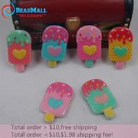 Wholesale New Fashion mm Resin Kawaii Ice cream Mix Color Resin Flatback Cabochon Scrapbooking Accessories DIY311