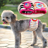 Wholesale Cute Male Dog Baby Doggie Diapers Pants Sanitary for Dogs Pets Supples Products Size Random Color CW0118
