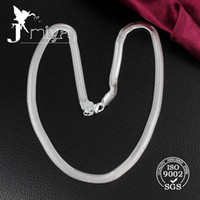 Wholesale 925 silver soft snake bone necklace MM snake chain inches to inches necklace