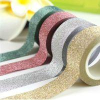 Wholesale 1 Colors m Kawaii Glitter Matte Tape Book Decor Scrapbooking Card Adhesive Paper Sticker DIY Craft