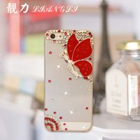 Wholesale iphone4s s diamond phone shell iphone6 angel butterfly diamond shell mobile phone sets Apple