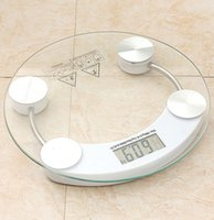 Wholesale Household Health Monitors Electronic weight scale bathroom Precise platform Toughened glass body mini scale fat mearuing