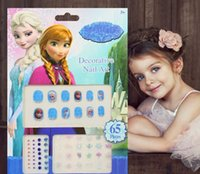 Wholesale Crystal Sticker Decals - Child Nail Decals Lovely Anna Elsa Cartoon Froze Sophia Mickey Minnie Mouse Doc McStuffins Children Girls Crystal Nail Art Stickers L1848