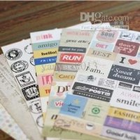 Wholesale Set of sheets ponybrowm vintage stamp DIY decorative diary message stickers