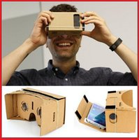 Wholesale 3D Google Cardboard glasses Virtual Reality D viewing Glasses for the inch screen phones iphone plus Samsung s6 s5 s4 edge note