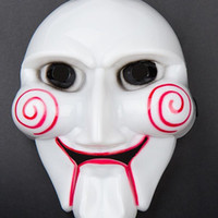 Wholesale Full face Plastic Mask The Saw White Horror Movie Mask with Elastic Band g