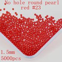 Wholesale No Hole pccs mm Many Colors To Choose No Hole Round Pearls Imitation Pearls Craft Art Diy Beads Nail Art Decoration