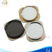 Wholesale single Home button For iphone S white black gold available brand new good quality by air mail
