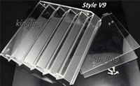 Wholesale Acrylic e cig display showcase clear stand show shelf holder rack for ml ml ml ml e liquid eliquid e juice bottle needle bottle Mods