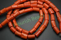 Wholesale About x20MM Orange Color Sea Bamboo Coral Tube Beads Fit Fashion Woman Bracelet Necklace Jewelry Festival Gift Making