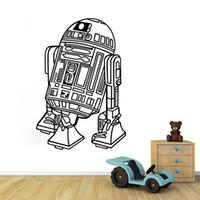 Cheap 2016 Star Wars Wall Stickers Star robot Home Decor wall stickers decorate room bedroom decor