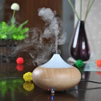 Wholesale 2015 New Ultrasonic Air Humidifier LED Light Aroma Oil Diffuser Ionizer Generator Aromatherapy Office Purifier Mist Maker W