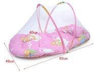 Wholesale 0 months Large portable folding baby mosquito net Take mat pillow nets ultra soft baby bed nets mosquito insect resistant dust proof nets