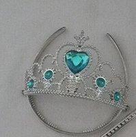 Wholesale Children Girls Cartoon Frozen Ornament Anna Elsa cosplay Crown Tiaras Children Party Accessories Rhinestone Crown