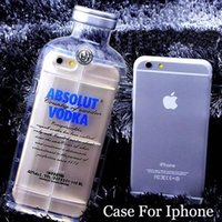 absolut white - Fashion Absolut Vodka case Alcohol Bottle Transparent TPU Case For Iphone s D Clear Silicone Cellphone Cover