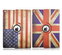 banner stand cases - ipad pro case Flip Retro Vintage USA UK national flag design cases PU leather country banner cover with stand holder for ipad pro quot New
