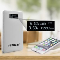 Wholesale HY H201A New design hot sale mah power bank for Iphone Ipad power bank With LCD Display Portable mobile charger external battery