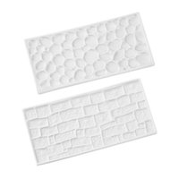 Cheap New arrival Cake castle 2Pcs Stone wall & brick wall style Cake Fondant Decorating Molds DIY Cooking Baking Kitchen Tools