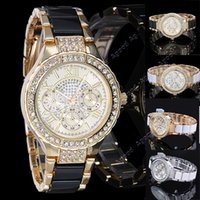 designer watches - Women s Round Bracelet Wristwatch Ladies Fashion Gold Silver Designer Style Crystal Wrist watch SV005649