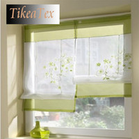 Wholesale 1pc Hot Sales Embroider Voile Curtains Short curtains for Kitchen Window cortinas Roman Window Blinds Roller Blinds