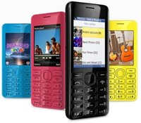 Wholesale 1pcs black blue white red yellow Original mobile phone Bluetooth FM JAVA MP Unlocked Mobile Phone Refurbished