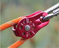 Wholesale Single block of outdoor stationary Escape mountaineering pulley Rock climbing downhill the work high above the pulley