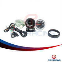 Wholesale PQY STORE MM DEFI Advanced CR Turbo boost Gauge with Red LCD Display Black Face PQY YB6261BK