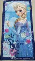 Towels cotton beach towel - 2015 kid color frozen bathing beach towels cotton elsa anna swim printed towels cm bathroom nap towels bedding sheet TOPB3254
