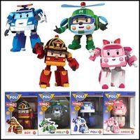Wholesale 2015 Kids ROBOCAR POLI bubble Action Figure toys korean Anime transforming robert dolls J061801 DHL