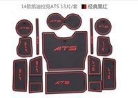 Blue ats interior - Suitable for Cadillac ATS years of automotive interior silicone pad coaster gate slot pad X13PCS FADSB07
