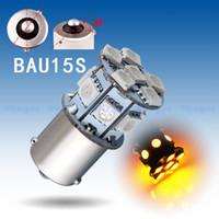 Wholesale 6pcs BAU15S SMD Amber Yellow Tail Turn Signal LED Car Light py21w Lamp Bulb V6 V Parking Car Light Source