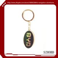 autos byd - 10pcs Mix Order Metal D BYD Car Keychain Keyring For Auto Key Chain Ring YOWO Gui