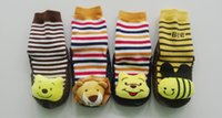 baby floor toys - pairs baby anti slip floor socks with toy winter warm boys floor socks cotton girls slipper socks