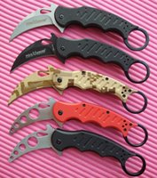 aluminum train - Camouflage Version Fox Karambit Training Folder Folding blade knife Aluminum Fighting Trainer tactical knife knives For sale