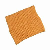 Al por mayor-El mejor precio caliente del invierno de las mujeres de las muchachas suavemente anillo del círculo de la bufanda Pullover Círculo de envío libre de lana amarillo de la redecilla de las bufandas pañuelo para el cuello