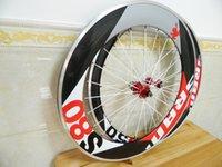 sram red - Alloy brake surface wheels full carbon road bike wheelset s80 SRAM mm wheels wheelset red white green rim C mm with novatec hubs