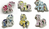 Wholesale Mix color Horse floating locket charms FC1110 Fit floating memory locket christmas gift
