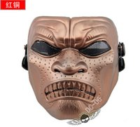 Wholesale DC Sparta Warrior Full Face Airsoft Mask For halloween CS Wargame Field game Cosplay Movie Prop