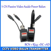 Wholesale BNC CCTV RJ45 Video Power Balun by UTP CAT5 Transmit Receiver Connector
